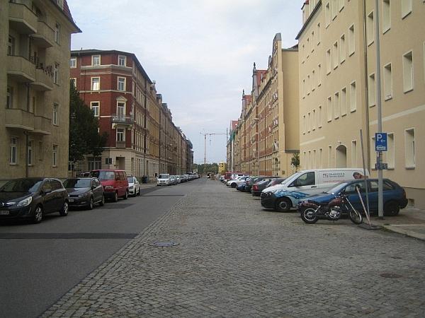 Querschnitt der Oederaner Straße